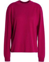 Michelle Mason - Wrap-effect Merino Wool And Cashmere-blend Jumper - Lyst