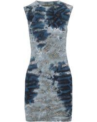 Enza Costa - Tie-dye Ribbed-knit Top - Lyst