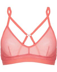 57e730ef0d Agent Provocateur Lucie Crop Top Coral pink in Pink - Lyst