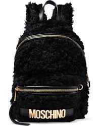ea9d36b3f362 MICHAEL Michael Kors Rhea Fur-trimmed Zip Medium Backpack in Black ...