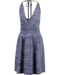M Missoni - Metallic Crochet-knit Halterneck Dress - Lyst