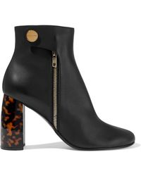 85f77930908 Stella McCartney - Woman Faux Leather Ankle Boots Black - Lyst