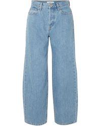 Jonathan Simkhai - Woman Nana High-rise Wide-leg Jeans Light Denim - Lyst