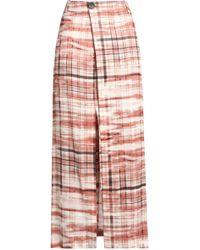 JOSEPH - Annie Printed Crepe Wrap Maxi Skirt - Lyst