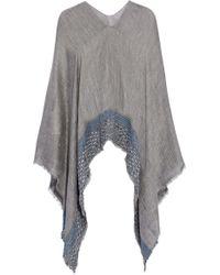 Rag & Bone - Frayed Embroidered Gauze Poncho - Lyst