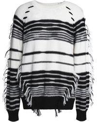 Antik Batik - Fringe-trimmed Striped Knitted Sweater - Lyst