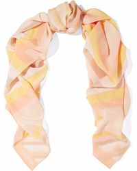 Valentino - Striped Silk Scarf - Lyst
