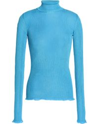 Missoni - Ruffle-trimmed Ribbed-knit Turtleneck Top - Lyst