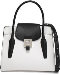 Michael Kors - Two-tone Smooth And Textured-leather Shoulder Bag - Lyst