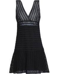 Sandro - Paola Crochet-knit Mini Dress - Lyst