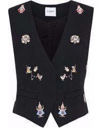 Vilshenko | Embroidered Wool Vest | Lyst