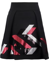 Just Cavalli - Sequin-embellished Stretch Cotton-blend Mini Skirt - Lyst