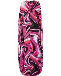 Emilio Pucci - Cape-effect Printed Silk Maxi Dress - Lyst