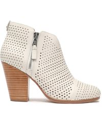 Rag & Bone - Laser-cut Leather Ankle Boots - Lyst