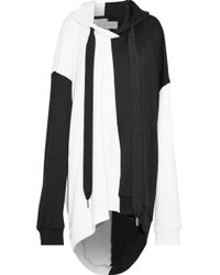 Marques'Almeida - Oversized Two-tone Cotton-blend Jersey Hooded Sweatshirt - Lyst