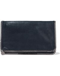 Stella McCartney - Falabella Brushed Faux-leather Clutch - Lyst