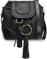 See By Chloé - Polly Tasselled Textured-leather Bucket Bag - Lyst