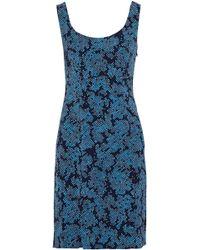 Diane von Furstenberg - Printed Twill Mini Dress - Lyst