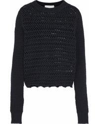 3.1 Phillip Lim - Crochet-knit Cotton-blend Jumper - Lyst