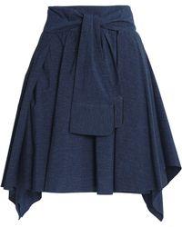 Halston Heritage | Draped Mélange Cotton-jersey Mini Skirt | Lyst