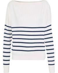 Jason Wu - Striped Ribbed-knit Sweater - Lyst