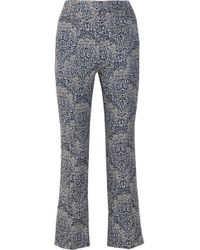 Erdem - Valary Floral-jacquard Flared Trousers - Lyst