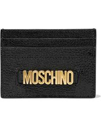 Moschino - Embellished Textured-leather Cardholder - Lyst