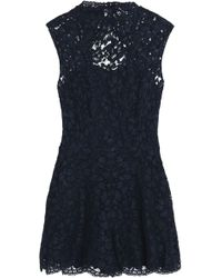 Sandro - Open-back Corded Lace Playsuit - Lyst