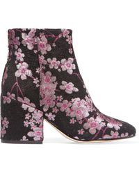 Sam Edelman - Taye Floral-Brocade Ankle Boots - Lyst