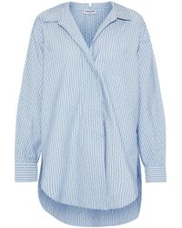 Opening Ceremony - Oversized Printed Cotton-blend Shirt Light Blue - Lyst