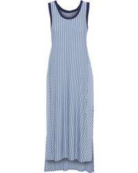 DKNY - Striped Modal-blend Jersey Nightdress - Lyst