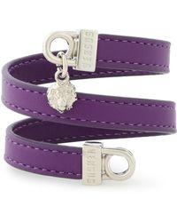 Versus - Embellished Leather Wrap Bracelet - Lyst