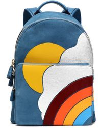 Anya Hindmarch - Leather-appliquéd Suede Backpack - Lyst