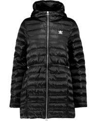 adidas Originals - Quilted Shell Hooded Coat - Lyst