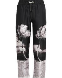 Orlebar Brown - Cropped Printed Silk-twill Straight-leg Trousers - Lyst