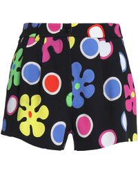 Moschino - Printed Crepe Shorts - Lyst