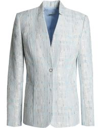 8b8b22e4426 Theory Woman Double-breasted Crepe Blazer Sky Blue in Blue - Lyst