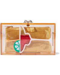 f6a5a29987d7 Charlotte Olympia - Pandora Cocktail Embellished Perspex Box Clutch - Lyst
