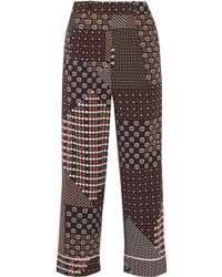 Thakoon - Addition Printed Crepe De Chine Wide-leg Pants - Lyst