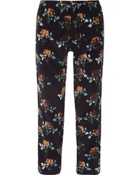 Thakoon - Addition Floral-print Silk-crepe Tapered Pants - Lyst