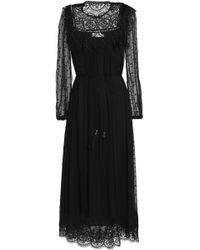 Zimmermann - Guipure Lace-trimmed Swiss-dot Silk-georgette Midi Dress - Lyst