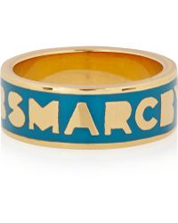 Marc By Marc Jacobs - Gold-tone And Enamel Ring - Lyst
