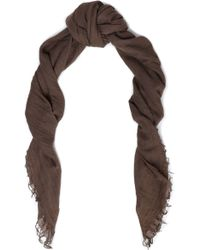 Chan Luu - Woman Fringe-trimmed Cashmere And Silk-blend Cashmere Scarf Brown - Lyst