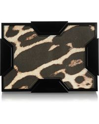 Lee Savage - Space Leopard-print Leather Box Clutch - Lyst