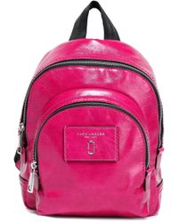 Marc Jacobs - Woman Cracked Patent-leather Backpack Magenta - Lyst