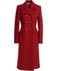 Just Cavalli - Double-breasted Wool-blend Felt Coat - Lyst