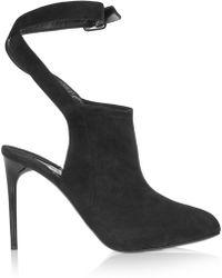 Donna Karan - Cutout Suede Court Shoes - Lyst