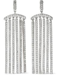CZ by Kenneth Jay Lane - Woman Rose Gold-tone Crystal Earrings Silver - Lyst