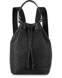 Iris & Ink - - Ruby Chevron-quilted Leather Backpack - Black - Lyst