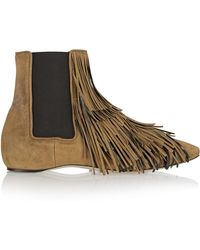 Daniele Michetti - Jubei Fringed Suede Chelsea Boots - Lyst
